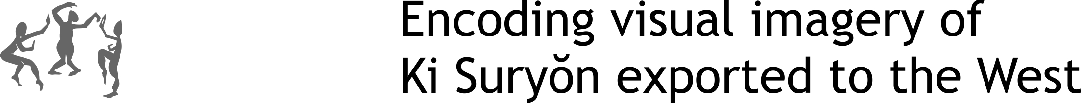 Encoding visual imagery of Ki Suryŏn exported to the West